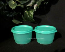 Tupperware NEW Set of 2 Green 4 oz SNACK CUP CUPS Bowl Green Seals RARE