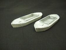 OO Model railway boats. small steel hulled dumb barge. pair of resin models.