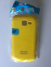 Coque Telephone Samsung Galaxy S3 Mini Plastique Jaune Yellow Phone Cover