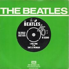 BEATLES    I FEEL FINE / SHE'S A WOMAN   UK PARLOPHONE RE-ISSUE PS   60s POP