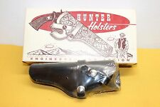 """Hunter Black Leather Left Handed Holster Style 1100 Sz 19 Fits 3-4"""" Autos Closed"""