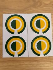A Set Of Four Ring Stickers In Green and Yellow
