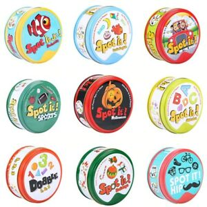 83mm Spot It Game Cards Dobble Kid Basic English Version On Road Holiday Gift