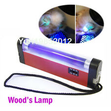 Pet Cat Dog Portable Wood's Light Lamp for Skin Care Diagnosis Ringworm Detector