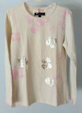 Tommy Hilfiger Girls Kids Children White w Flowers Long Sleeve Top TShirt Size 8