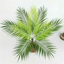 Artificial Palm Leaves 50cm Green Plastic Faux Fern Cycas Home Garden Decals