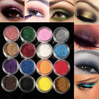 Glitter Eye Shadow Cosmetics 16 Mixed Color Powder Eyeshadow Makeup Salon Set
