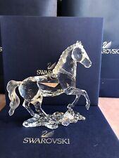 Swarovski Figurines #898508 Stallion Used In Original Box Horse Large Signed