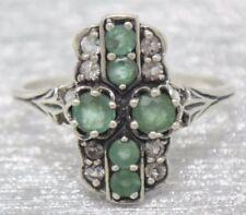 Anelli di lusso con gemme verde, con Misura anello 18