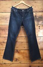 Maurices Straight Jeans size 13/14  Medium / Dark Wash EUC 33 Inseam