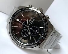 SSC715P1 Solar Chronograph Tachymeter Silver Steel Watch for Men