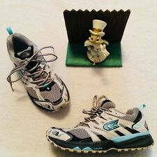 The North Face Single Track Womens Shoes 7 / 38 White Aqua Snake Plate