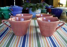 Vintage Harlequin ROSE Tea Cups Fiesta ~ Set of 4 ~