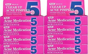 Rugby Acne Medication Clear Up Acne Pimples - 1.5 Oz ( 8 Pack )
