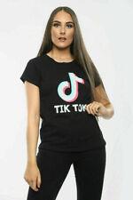 Womens Ladies Tik Tok Short Sleeve t shirt Plus Size Tops Viral Music Videos UK
