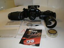 Nikon N6006 f Camera 35-70 Zoom lens  70-210 mm Tamron 70-300 mm Speedlight