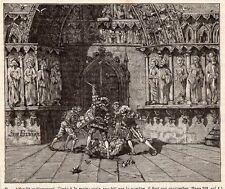 PARIS COMBAT A L EPEE SWORD FIGHT IMAGE 1878 ENGRAVING