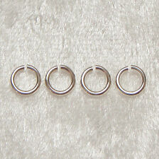 10 x 5mm Solid Sterling Silver Open Jump Rings Heavy/Strong 0.9mm Gauge Findings