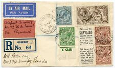 SCARCE 1928 Ile de France cover to Canada with BW 2/6 Seahorse