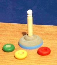 1/12 Miniature Maison Poupées pépinière de bois jeu enfant cerceau JOUETS Poupée École LGW