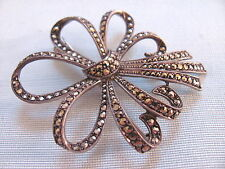 Antique 925 Sterling MARCASITE silver BROOCH  HEIRLOOM  jewelry vintage gift