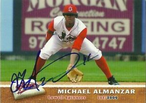 2009 Lowell Spinners MICHAEL ALMANZAR Signed Card AUTOGRAPH RC RED SOX