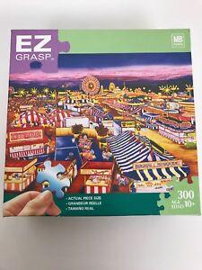 EZ Grasp Milton Bradley jigsaw puzzle 300 large extra thick Carnival Circus
