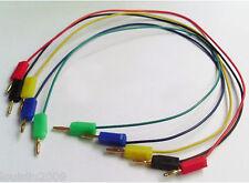 1set 5 color 2mm Gold Banana Plug Male Jack Test Cable