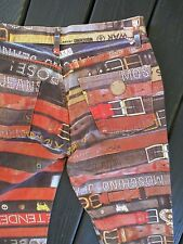 MOSCHINO JEANS vintage 90s logo belt print straight leg jeans 30x27