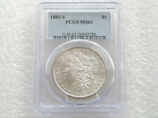 1881-S Estados Unidos $1 un dólar Morgan plata moneda PCGS MS63 San Francisco
