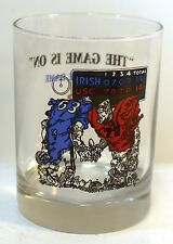 Vintage USC Vs NOTRE DAME Irish Glass The Game Is On Man Cave Bar RARE HTF!1992