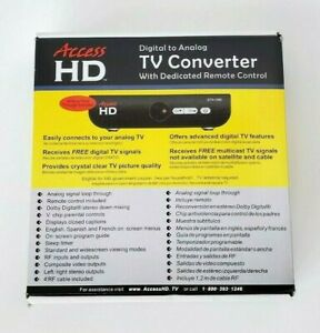 Access HD Digital to Analog TV Converter w/ Dedicated Remote Control DTA1080D