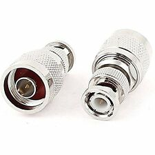 Coax Antenna Cable BNC male to N male Adapter 2pcs High Quality