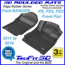 Fits Ford Ranger PX PX2 PX3 2011-2019 Genuine 3D Front Black Rubber Floor Mats