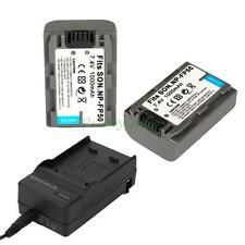 2x NP-FP50 Battery for SONY HandyCam DCR-DVD105/DVD202E/DVD203/DVD205 + Charger