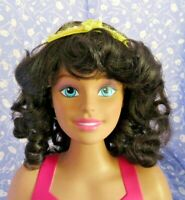 Monique  JUDIE Brown Full Adj.Cap Doll Wig SZ. 16-17 Mid-Length Curly