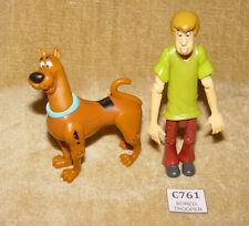 VINTAGE SCOOBY DOO ACTION FIGURES - SCOOBY & SHAGGY EQUITY 2001 RARE FREE UK P&P