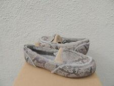 7983cbdeb35 UGG Hailey Silver Metallic Snake Sheepskin Moccasin Loafers US 8  EUR 39