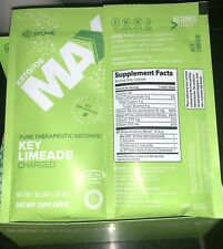 Pruvit Keto OS MAX 5 Packets KEY LIMEADE Ketones Charged *New Flavor! Lime
