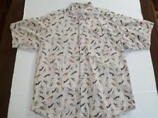 COLUMBIA MEN'S FLY FISHING LURE BUTTON FRONT SHIRT XL VERY NICE FREE SHIPPING
