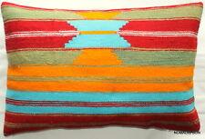 (40*60cm, 16*24cm) Textured handmade pillow cover bright nomadic tribal weave