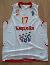Basketball Jersey Match Worn SPAIN ESPANA National team  FIBA Europe