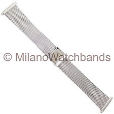 18-21mm Morellato High Quality Stainless Steel Reinforced Mesh Mens Watch Band