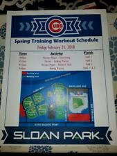 2018 CHICAGO CUBS SPRING TRAINING WORKOUT SCHEDULE SLOAN PARK FEBRUARY 23, 2018