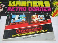 mario bros duck Nintendo nes Video game Manual only retro official