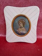 Bella, Vecchio Miniatura__Ritratto uno Lady __ Ritratto in Miniatura __