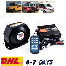 200W 8 Sound Car Warning Alarm Police Fire Siren Horn Loud Speaker System New