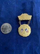 """June 22nd 1919 """"Great nat'le French American Celebration"""" Attendance Medal - R.I"""