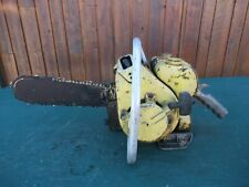 "Vintage CLINTON D21 Chainsaw Chain Saw with 14"" Bar OLD"