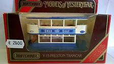 MATCHBOX 1:87 AUTO DIE CAST TRAMWAY PRESTON BLU BIANCO SWAN SOAP ART Y-15